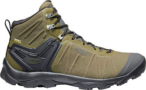 KEEN - Men's Venture Mid Waterproof Hiking Boot, Dark Olive/Raven, 7 US