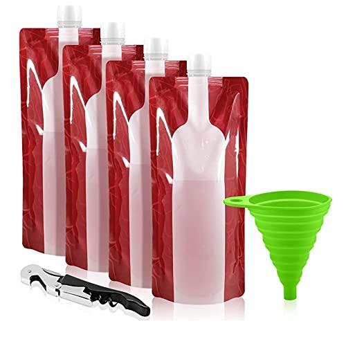 OVBBESS Bolsa de vino plegable, portátil, reutilizable, de plástico, apta para vino, viajes, regalos