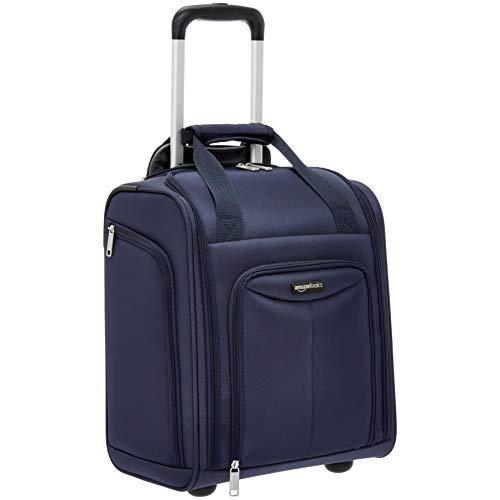 AmazonBasics Underseat Rolling Luggage - Large, Navy