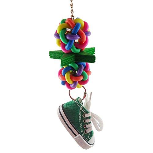 tianxiangjjeu vogel opknoping speelgoed Multi kleuren Sneakers gesp ster beet klimmen huisdier speelgoed, Willekeurige kleur