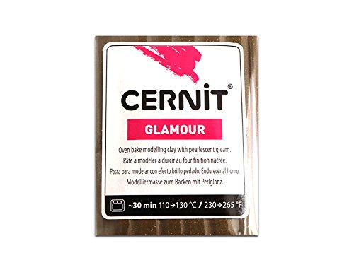 Sescha Cernit Modelliermasse Polymer Clay Glamour - Bronze