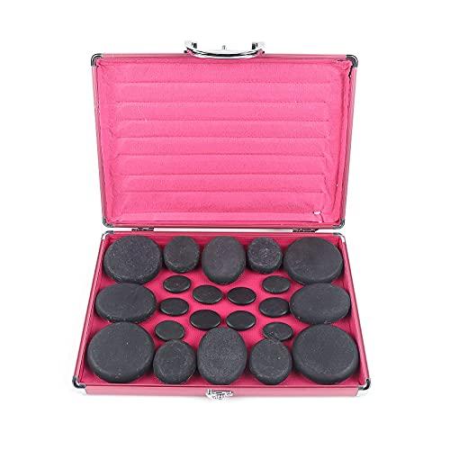 Hot Stones Massage Set,16/20/28 Pcs Massage Stone Heater Kit Natural Basalt Hot Rocks Kit Hot Stone...