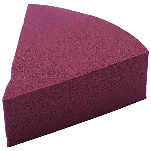 Baalaa 10 unidades/lote en forma de abanico esponja de maquillaje profesional soplo cosmético para base corrector, crema de maquillaje, esponja de agua suave húmeda y seca (rojo morado)