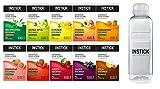 INSTICK zuckerfreies Instant-Getränk - Bundle S - 10 x 12-er Packung + Trinkflasche 0,5 L gratis