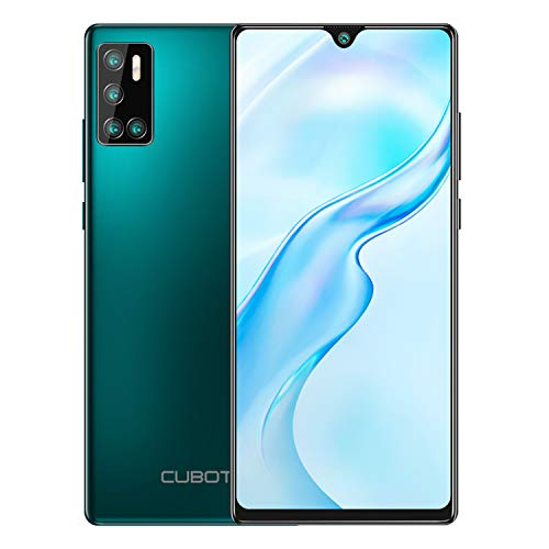 CUBOT P40 128GB Smartphone with 6.2-Inch Dewdrop Screen, 4GB RAM, Quar Rear Cameras, Android 10, 4200mAh Battery, 4G Dual SIM, NFC, SIM Free Mobile Phone-Green