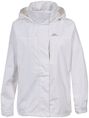 Trespass Lanna - Chubasquero para mujer, color blanco, talla XL