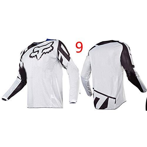 HFJLL Costume de Descente extérieure - T-Shirt à Manches Longues en Jersey de Motocross pour VTT,No.9,L