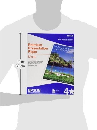 Epson Premium Presentation Paper MATTE (8.5x11 Inches, 100 Sheets) (S042180),Black Photo #2