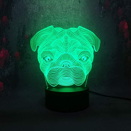 Colorful Three-Dimensional 3D Table lamp Cute pet Dog Shape LED Home Decoration Children's Toy | Bedside Table lamp dimmable