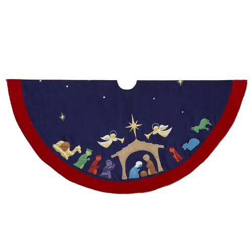 Kurt Adler Nativity Treeskirt, 52-Inch