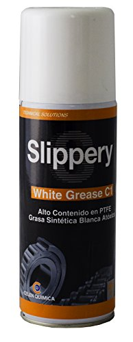 Slippery White Grease C1 - Grasa multifuncional con teflón 400 ml - Grasa atóxica blanca de alto rendimiento, formulada en base sintética y micro partículas de teflón.