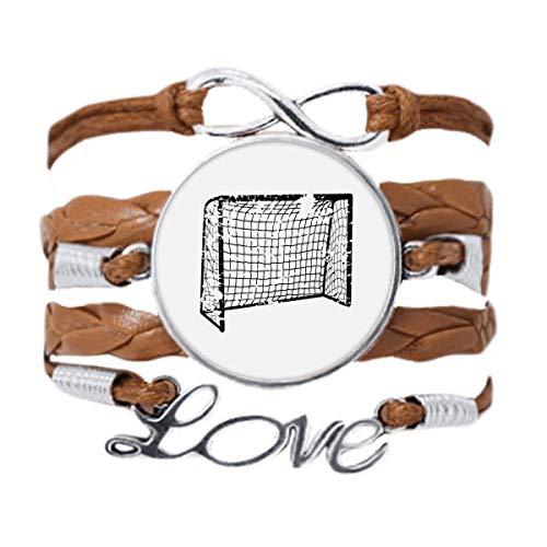 DIYthinker Schwarzes Fußball-Tür-Netz-Armband, Liebeskette, Ornament, Geschenk