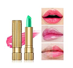 【Ship from US Fast Delivery】★ Type: lip gloss, lipstick. 【Ship from US Fast Delivery】★ According to their own temperature and change the color, shining luster, lasting color is not sticky, moisture. 【Ship from US Fast Delivery】★ Three-dimensional lip...