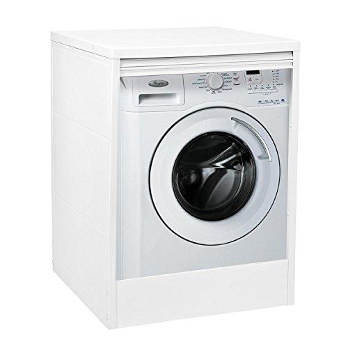 Yellowshop Meuble cache machine à laver en PVC résistant et résine, avec volet, idéal pour extérieur
