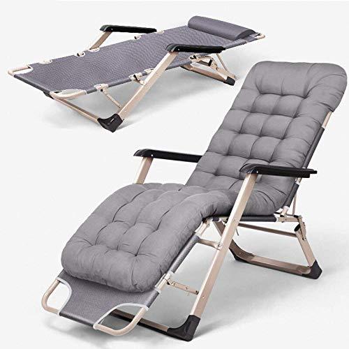 Tumbona Plegable Gravedad Cero del Patio del jardín Hamaca sillas portátiles para Acampar al Aire Libre de Viaje alisador Silla (con el Amortiguador)
