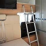 Taburete escalera Escalera De Litera De RV 60 Pulgadas, Escalera De Cama De Aluminio De 5 Escalones con Ganchos Y Accesorios, Escalera para Literas Loft para Camper, Carga 150KG