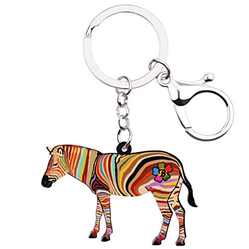 NAMOMEI Afrika Dier Zebra Sleutelhangers Sleutelhangers Voor Vrouwen Meisje Tas Rijden Auto Sleutel Handtas Portemonnee Bedels Sleutelhanger Sieraden