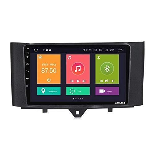 WY-CAR Estéreo De Coche con Unidad De Cabeza Doble DIN Android 10.0 para Benz Smart 2011-2015, Navegación GPS, Pantalla Táctil De 9 Pulgadas, Bluetooth/FM/DSP/Cámara Trasera,8 core-4G+WiFi: 1+16G