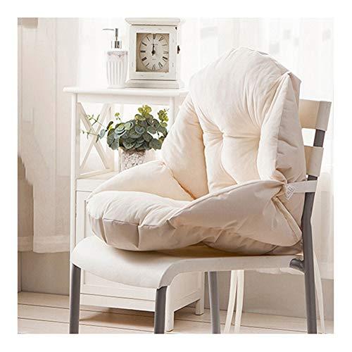 HONGBI Cojín para Silla de Oficina,Asiento de Oficina para sillas de Respaldo bajo,Almohadilla de Asiento y Respaldo Suave Blanco1 55x45cm
