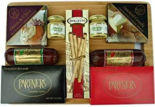 Deluxe Cheese Spread and Sausage with Bamboo Cutting Board Gift