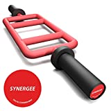 Synergee Red Tricep Bar 25 lbs fo Maximum Gains & Comfort for Extensions, Curls, Pressing Workouts – Upper Body Exercise Gear