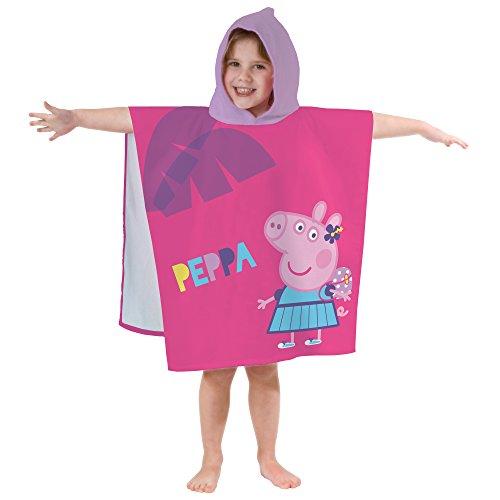CTI 044222- Capa de baño Peppa Pig Holiday de algodón, 390g/m², 120x60cm, Color Rosa