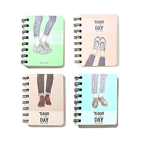3 estilos Lindo Cactus Daily Office Suministros Semana Planificador Espiral Cuadernos Día Plan Diario Libretas Escuela Papelería (Color : C Random)