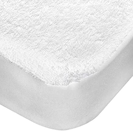 Princess Terry Water Proof Mattress Protector - Single Size (100 X 200 Cm) - White