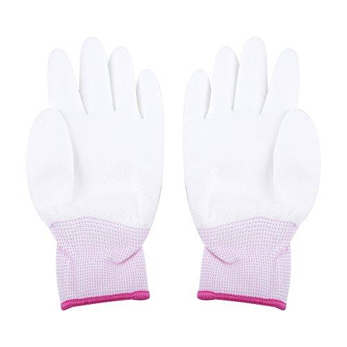 1 Paar Anti-Statik Gleitschutz Handschuh PU Beschichtet Palm Anti-Rutsch Wearable Handschuhe für PC Computer Telefon Reparatur Sicherheit Arbeiten(S(Rosa))