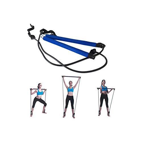 Leikance Pilates-Widerstandsband, Gymnastikstab, Yoga-Übungsstange, Pilates-Trainer, Fitness-Stange mit Fußschlaufe