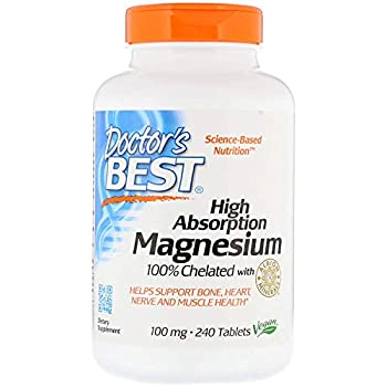 Doctor s Best High Absorption Magnesium  200 Mg Elemental  Value Size Packof 3  240 Tablets Each  720 Tablets Total