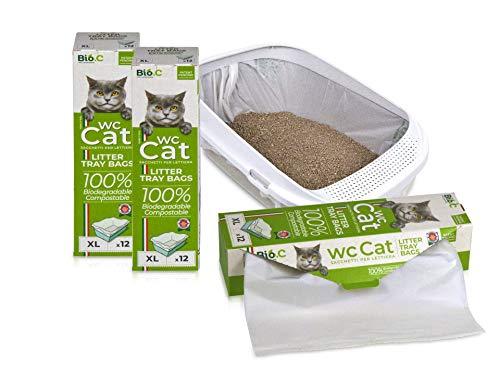 Wc Cat XL 12 Sacchetti Lettiera Biodegradabili Compostabili, Umido OK!