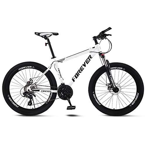 CPY-EX Erwachsene Mountain Bike 26 Zoll Doppelscheibenbremse Stadt Fahrrad Einrad-Off-Road Variable Speed MTB Mountainbike (21/24/27/30 Speed),B,24