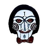 Jigsaw Enamel Pin   Billy The Jigsaw   SAW Movie   Jigsaw Puppet   Jigsaw Doll   Saw Franchise   Horror Pin   Halloween Lapel Denim
