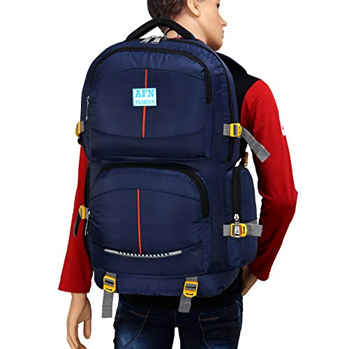 AFN FASHION Blue 55 L Travel Backpack for Outdoor Sport Hiking Rucksack