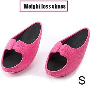 iSunday - Zapatillas de fitness para mujer, para perder peso, para tonificar y tonificar, EVA, rojo rosado, Small