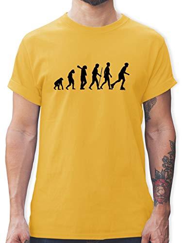 Evolution - Inliner Evolution - XXL - Gelb - L190 - Tshirt Herren und Männer T-Shirts