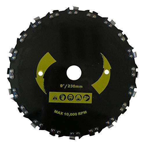 Cortadora de césped de 9 (230 mm)/7 (180 mm) sierra circular accesorios para desbrozadora eléctrica cortador de cepillo sierra de cadena de ángulo recto herramientas de jardín_9 pulgadas 20 dientes
