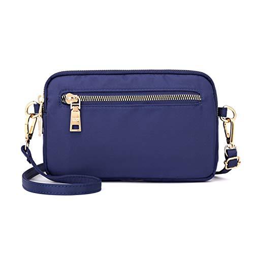 SYYHOME - Bolso bandolera pequeño de nailon, bolso de viaje ligero, Azul (Azul marino), Talla única