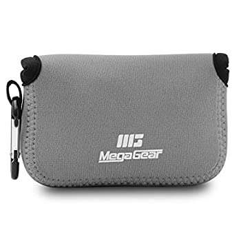 MegaGear MG610 Sony Cyber-shot DSC-HX99 DSC-HX95 DSC-HX90V DSC-HX80 Ultra Light Neoprene Camera Case with Carabiner - Gray