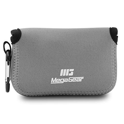 MegaGear Ultraleichte Kameratasche aus Neopren-Marterial für Canon PowerShot G7X, Canon PowerShot G7 X Mark II Kamera (Grau)