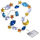SODIAL LED Dekorative Lampe Stern Mond Wolke dekorative Licht Vliesstoffe Urlaub Kinderzimmer Zelt...