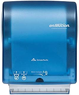 Georgia Pacific enMotion Splash Blue Hands-Free Paper Towel Dispenser with Key and Brochure