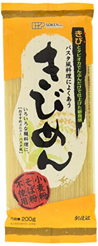 [創健社] 乾麺 きびめん 200g×2 /パスタ風に