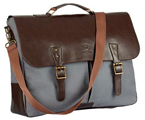 Maluma Leder-Umhängetasche Herren   Messenger-bag   16 Zoll Premium Umhänge-Tasche   Vintage Kuriertasche, Aktentasche