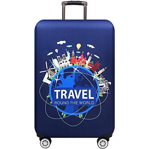 MOLUO Cubierta Protectora for el Equipaje 18-32 Pulgadas Maleta Cubiertas Protectoras del Tronco Caja de Accesorios de Viaje Cubierta para Equipaje (Color : Word Travel, Size : XL)