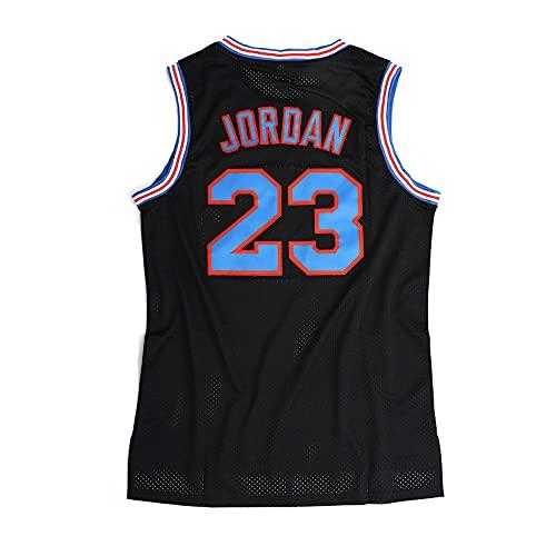 BRHERIOL Mens Space Movie Jersey Maglia da Basket 23# Jordan Jersey Swingman Stitched Shirt S-3XL (Nero, S)