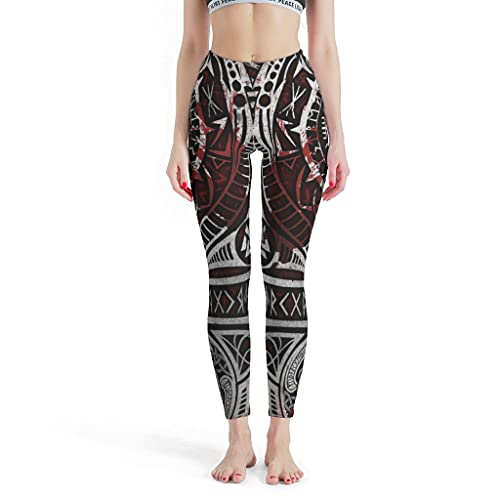 KASTLEE Yoga Pants Leggings Viking Vegvisir Valknut Scandinavian Runes Girls Leggings Basic Solid Activewear white2 Medium