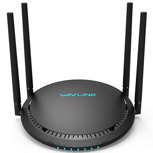 WAVLINK Dualband Gigabit Port AC1200 WLAN Router (867 Mbit/s / 5 GHz + 300 Mbit/s / 2,4GHz) USB-Anschluss für FTP, Touch Link, beamforming, für Anschluss an Kabel-/DSL-/Glasfaser-Modem (531G3)