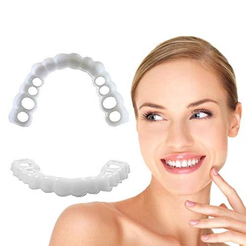 Zahnverblendungen Oben und unten Whiten Smile Fake Teeth Cover zum Ersetzen fehlender Zahnersatz Zahnersatz Zähne kosmetischer Aufkleber